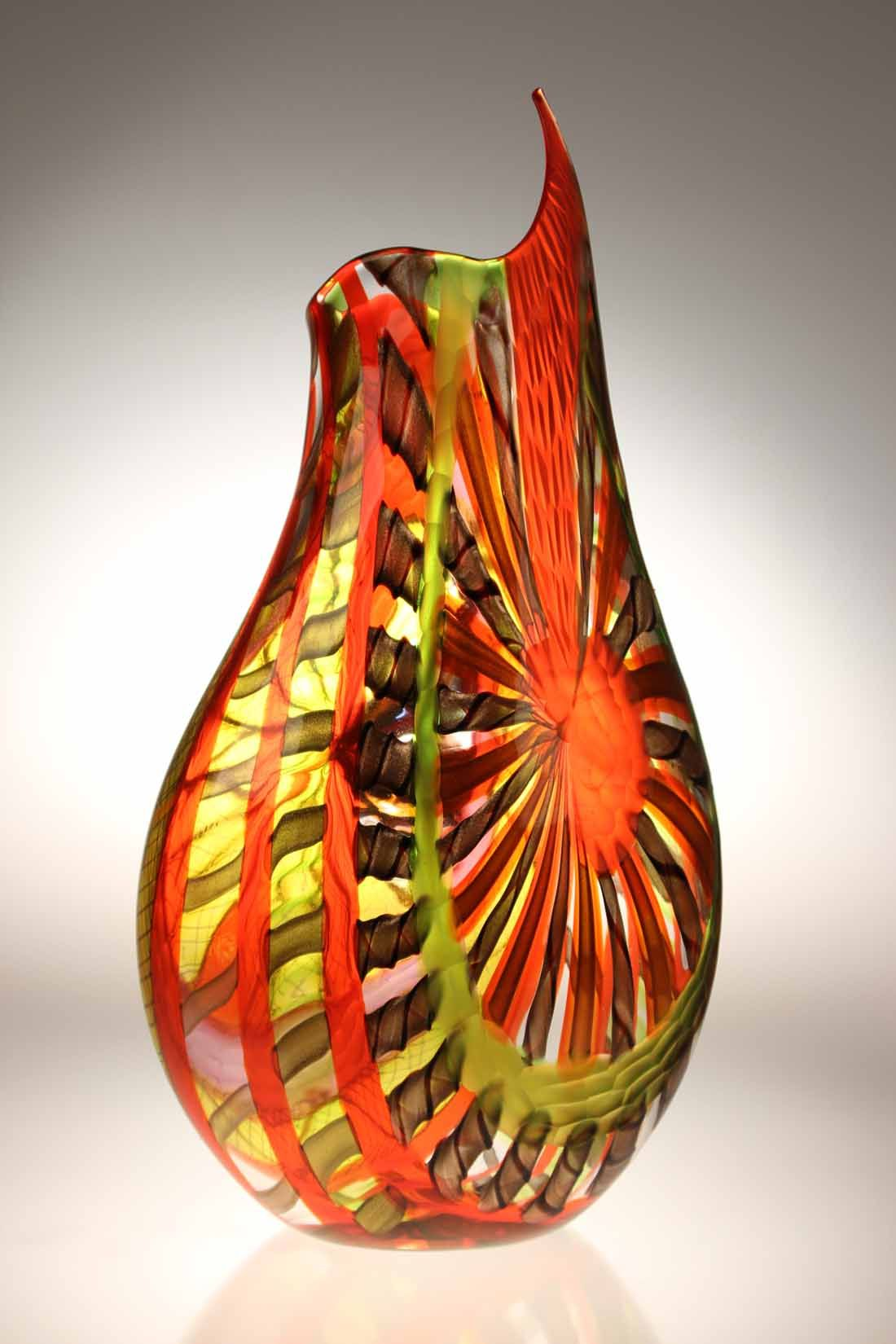 Murano Glass Studio Vase Lodario 18 Reverse Murano Glass Vase Stained Glass Art Art Of Glass