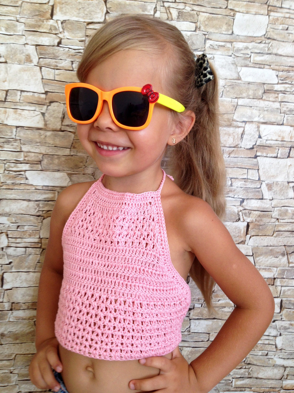 Pink crocheted toddler top/ Crochet toddler/ Baby top