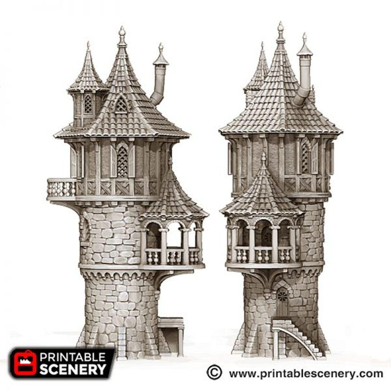 Dnd Wizard, Tower, Fantasy Wizard