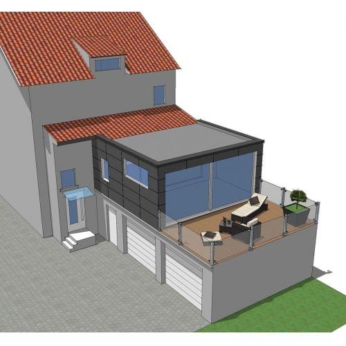 Extension maison moselle tecnhome Projet extension ossature bois