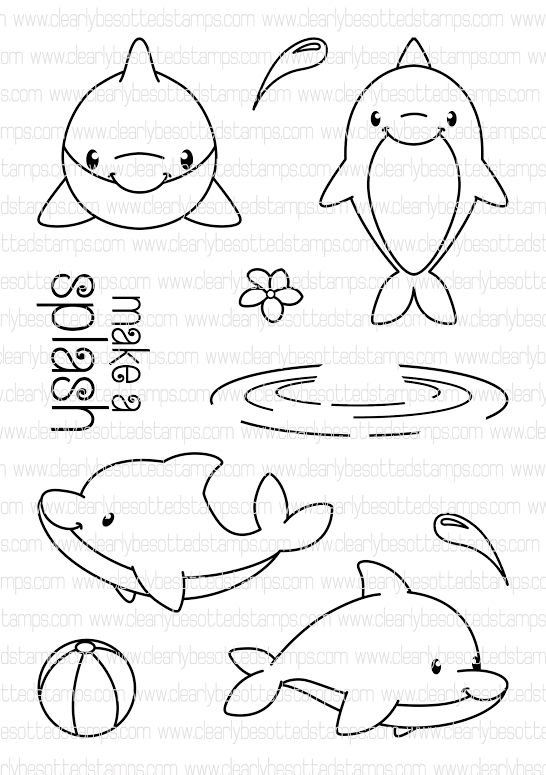 Clearly Besotted Make A Splash Clear Stamp Set Zoom Image Com