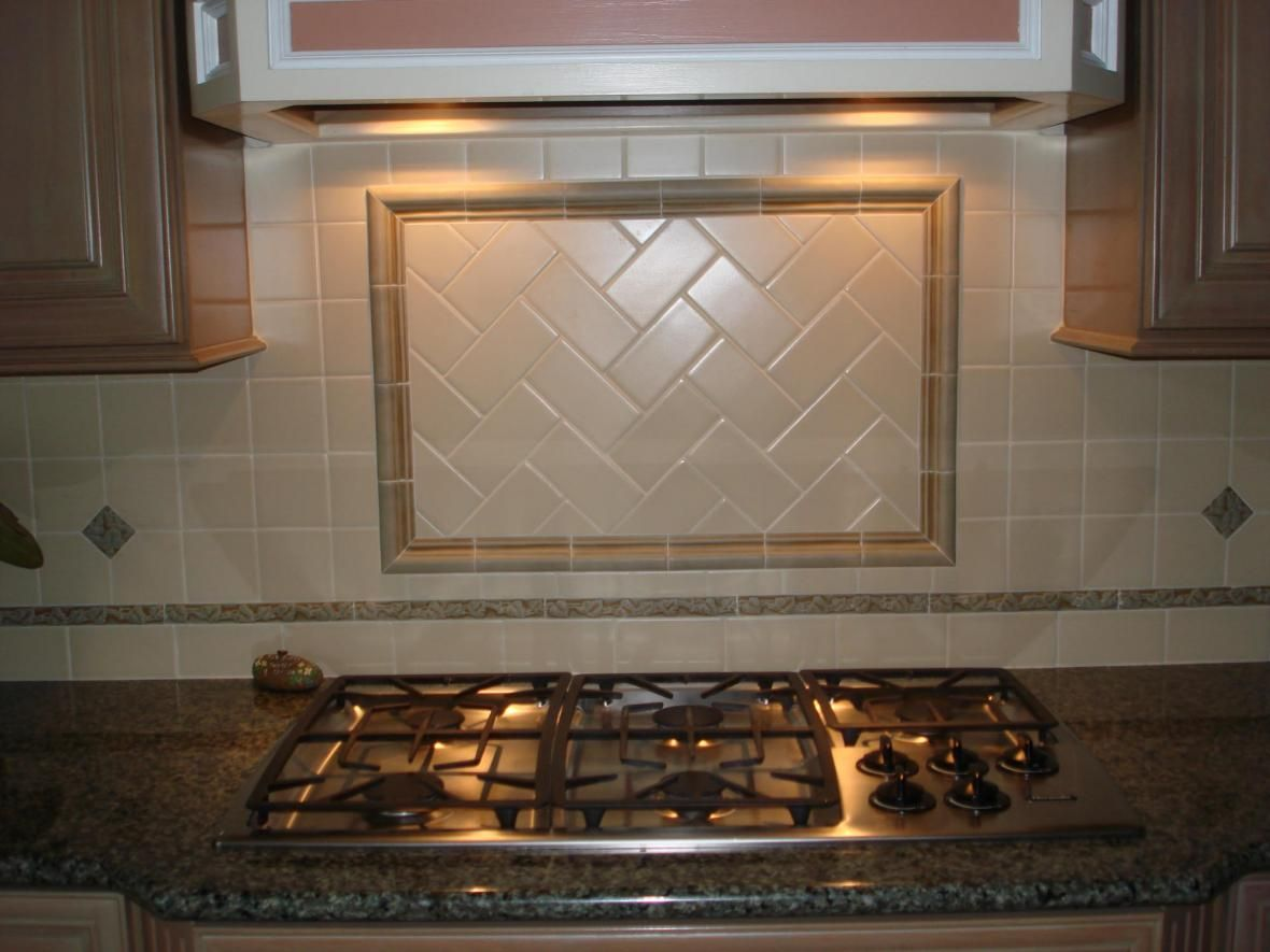 simple backsplash ideas for kitchen | ... Kitchen Ideas: Herringbone ...