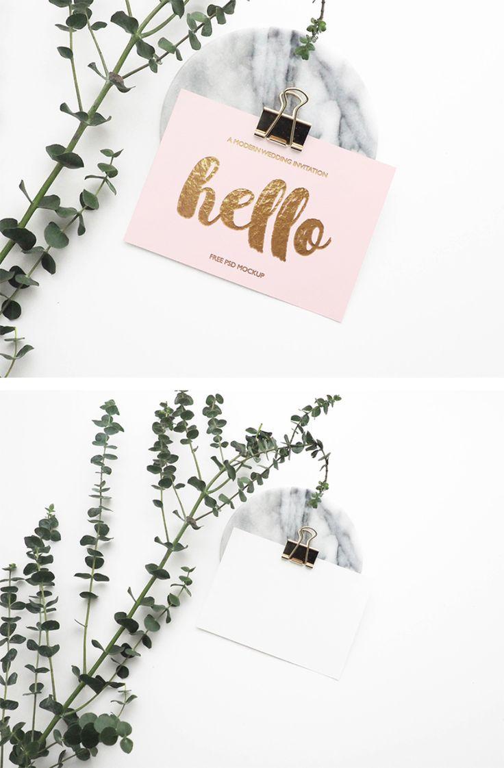 Stylish Greeting Card Free Mockup Pinterest Mock Up And Business