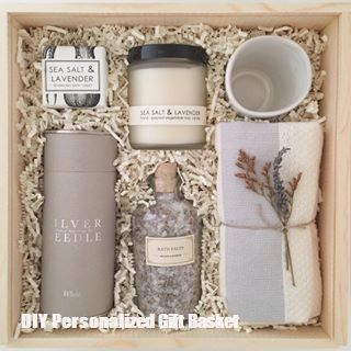 DIY Personalized Gift Basket For Anyone, Girlfriend, Kids, Mom Etc