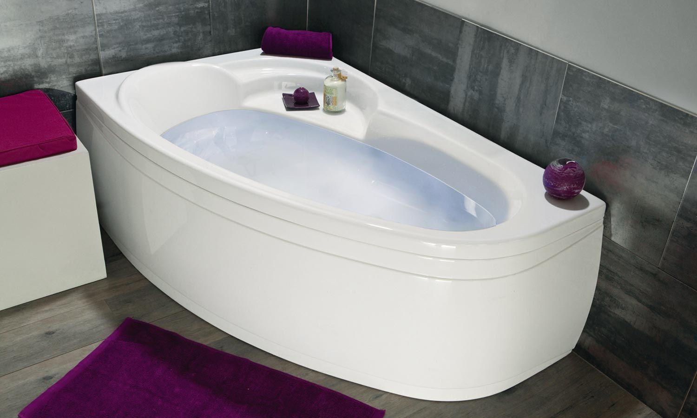 Salle De Bain Occasion Marseille ~ baignoire d angle asym trique ladiva de aquarine salle de bain