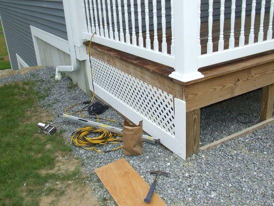 Lattice Skirting On House Pvc Porch Skirt Detail Porch
