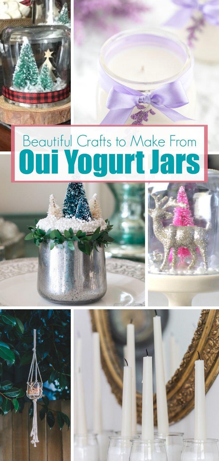 Photo of Beautiful handicrafts made with a recycled Oui yogurt jar …
