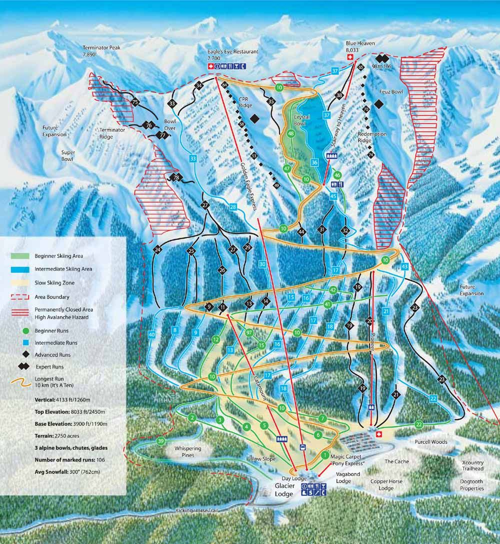 Kicking horse bc skiing pinterest horse ski canada and trail maps kicking horse resort on a map publicscrutiny Image collections