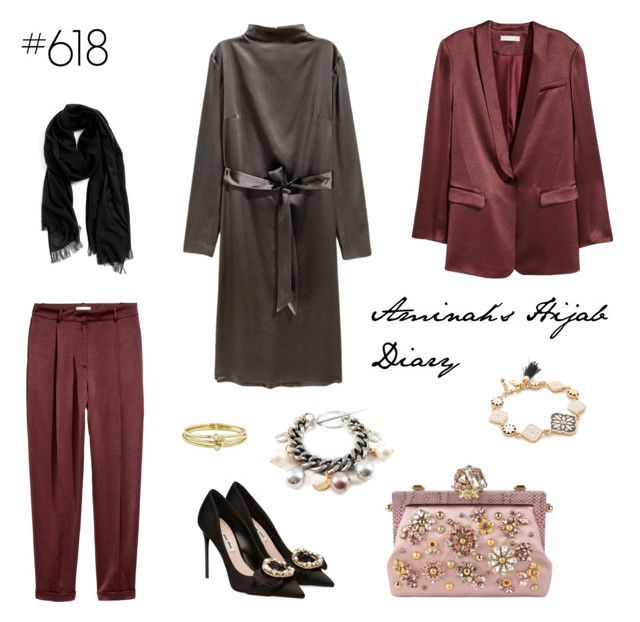 #618 Explosive by aminahs-hijab-diary on Polyvore featuring polyvore, fashion, style, H&M, Miu Miu, Dolce&Gabbana, Kate Spade, Jennifer Meyer Jewelry, Nordstrom and clothing