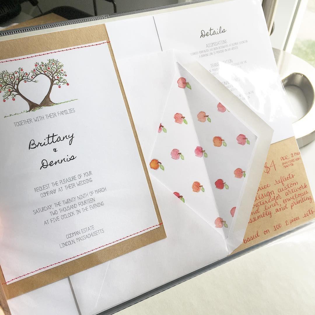 Apple Orchard Farm Rustic Vintage Wedding Invitation Suite by ...