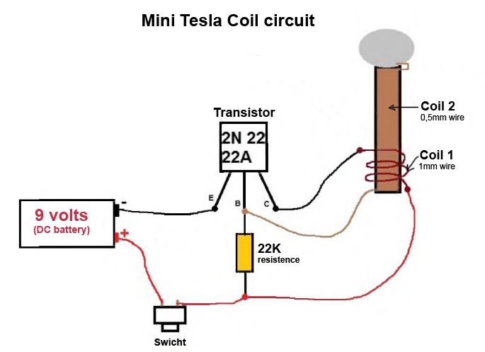 mini tesla coil circuit jpg  685 u00d7497  technik pinterest tesla coil circuit schematic 9v tesla coil circuit diagram