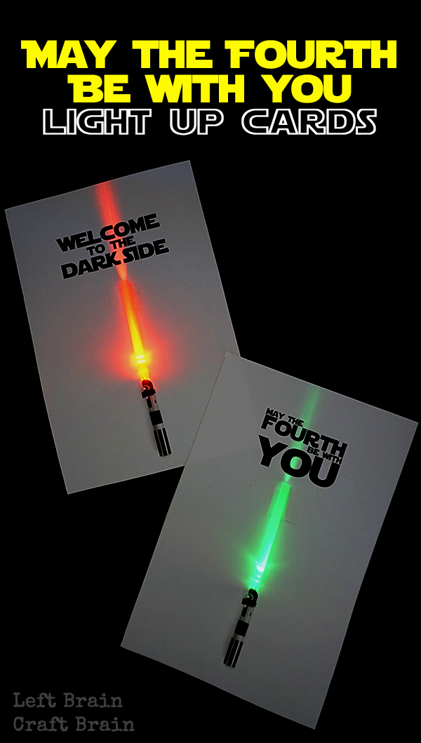 89f73b788 Celebrate May the Fourth, Star Wars Day, with these light up circuit  lightsaber cards. Fun STEM for kids!