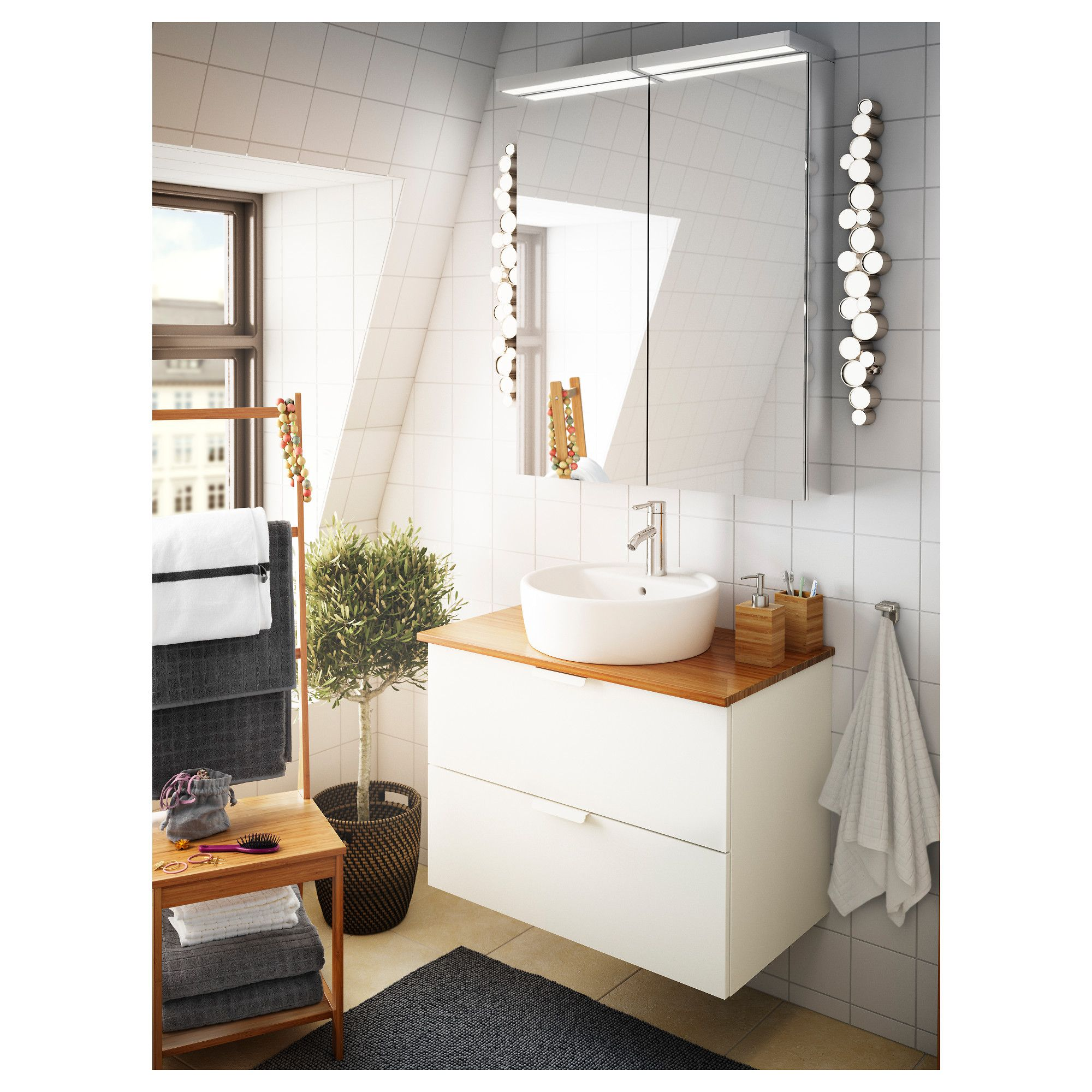 Ikea Tolken Countertop Bamboo Diy Bathroom Remodel Bathrooms