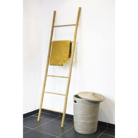 Porte serviette bambou leroy merlin 20 salle de bain dans les combles for Echelle salle de bain