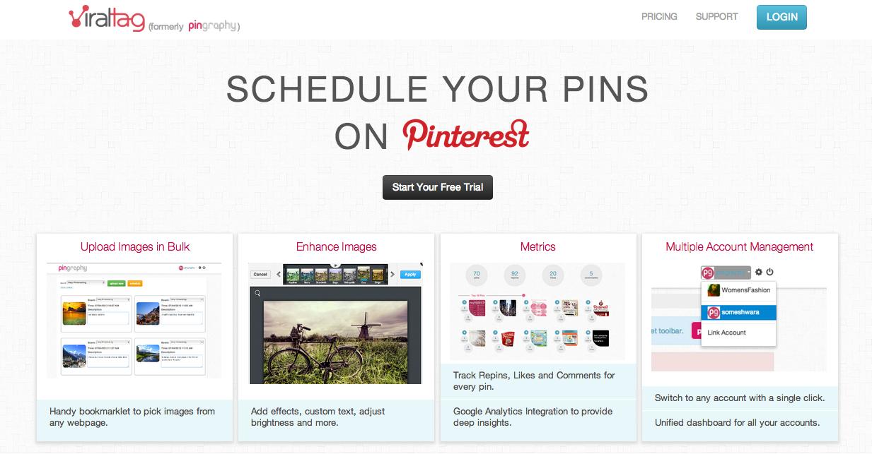 Schedule Pins On Pinterest Using Viraltag Com Social Media Social Media Marketing Social Media Tips