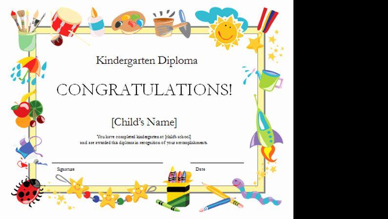 Kindergarten Certificate Free Printable Unique Kindergarten Diploma Certificate 賞状
