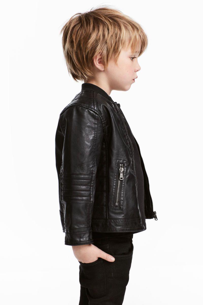 814e1f6fc Biker Jacket | Black | KIDS | H&M US | Kid style | H&m fashion ...