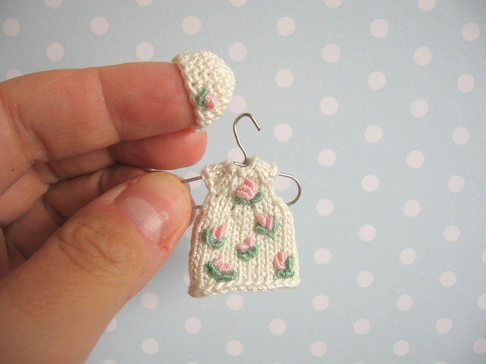7ce41d57c Miniatur Kleid Mütze für Heidi Ott BABY Mniature tiny doll clothes ...