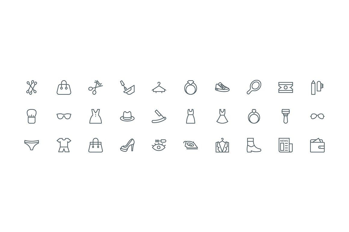 220 Fashion And Clothes Line Icons Line Icon Clothes Line Icon