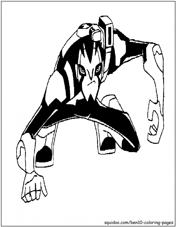 Rook Blonko Coloring Picture From Ben 10 Omniverse