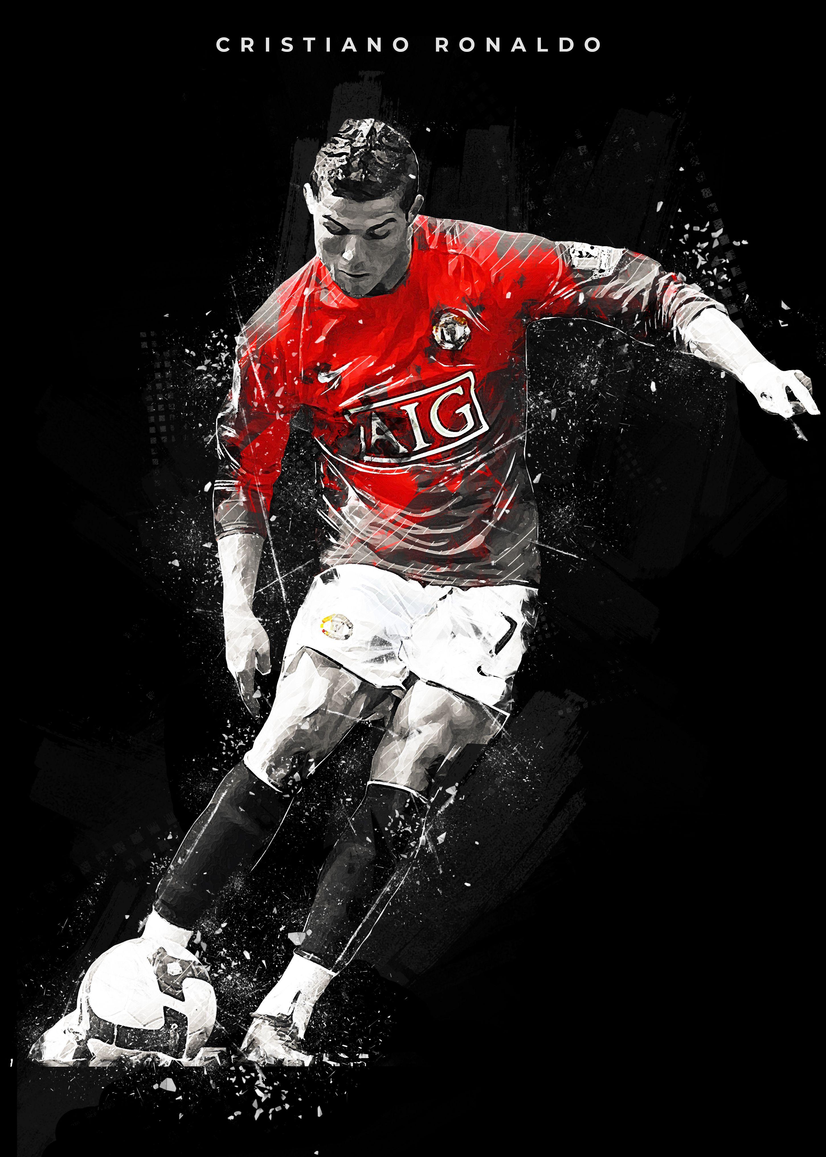 Cristiano Ronaldo Poster By Creativedy Stuff Displate Manchester United Ronaldo Cristiano Ronaldo Ronaldo