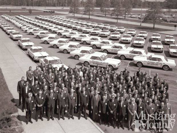 1964 Mustang pace car support vehicles