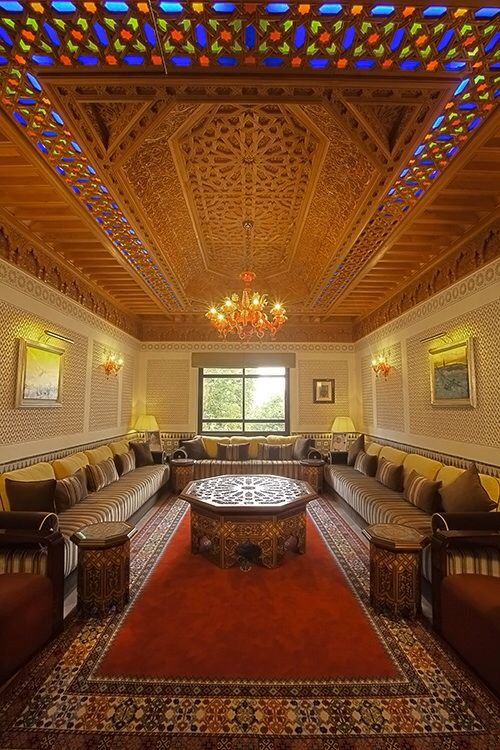Traditionnal Moroccan Living Room From Inside Home Room