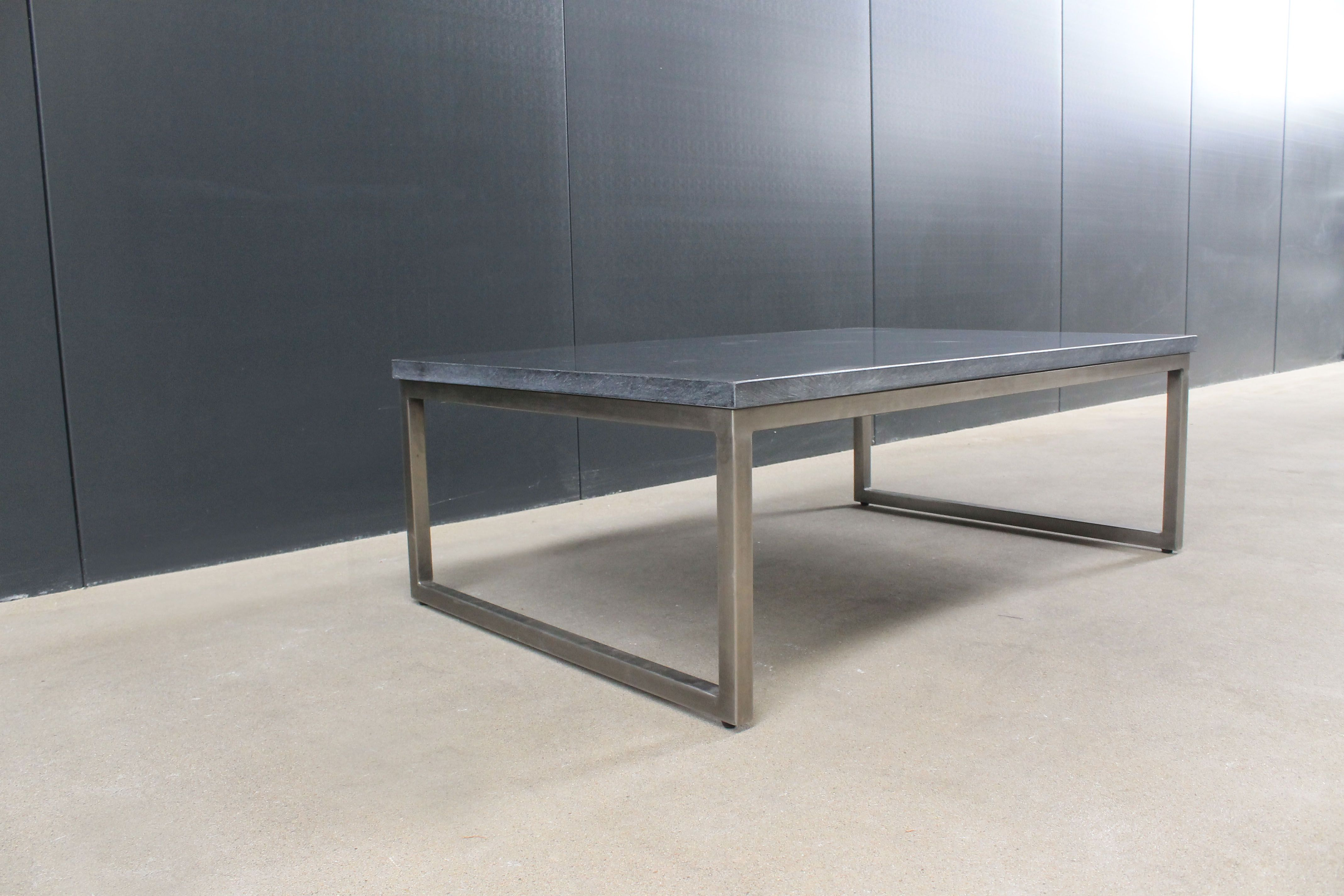 Table steel with basalt tabletop 120x80cm
