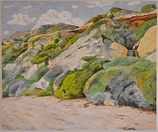 Crystal Cove Beach by robin lee Oil ~ 30 inches x 36 inches