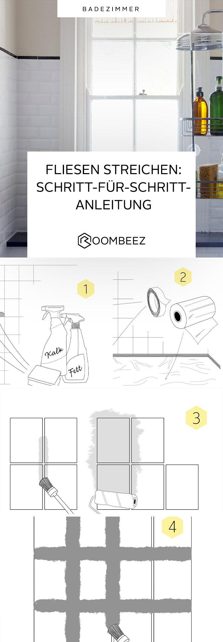 Fliesen Streichen Tipps Fur Die Fliesen Gestaltung In 2020 Fliesen Streichen Badezimmer Streichen Fliesen