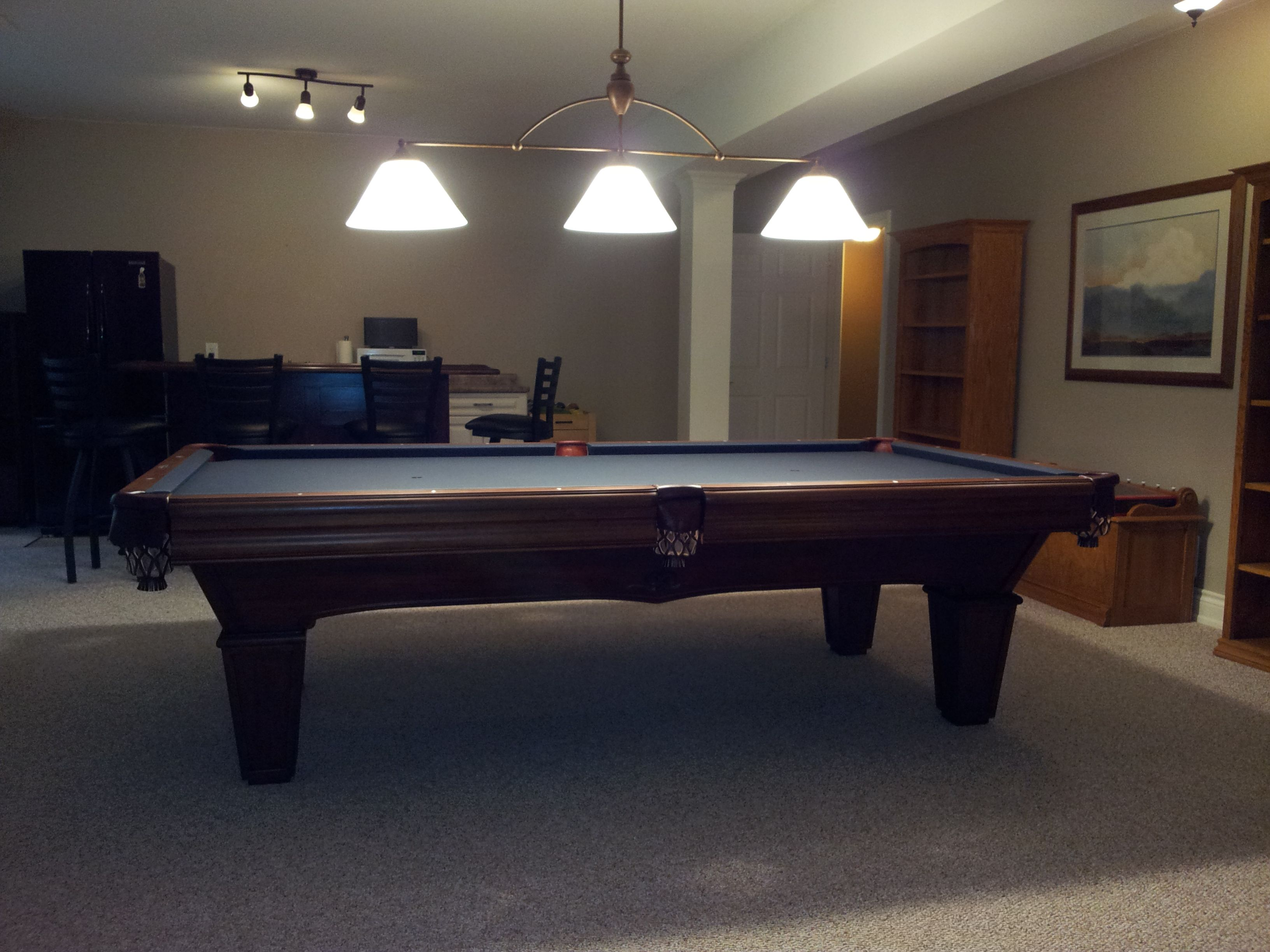 The Brunswick Glenwood Pool Table With A Tapered Leg Is