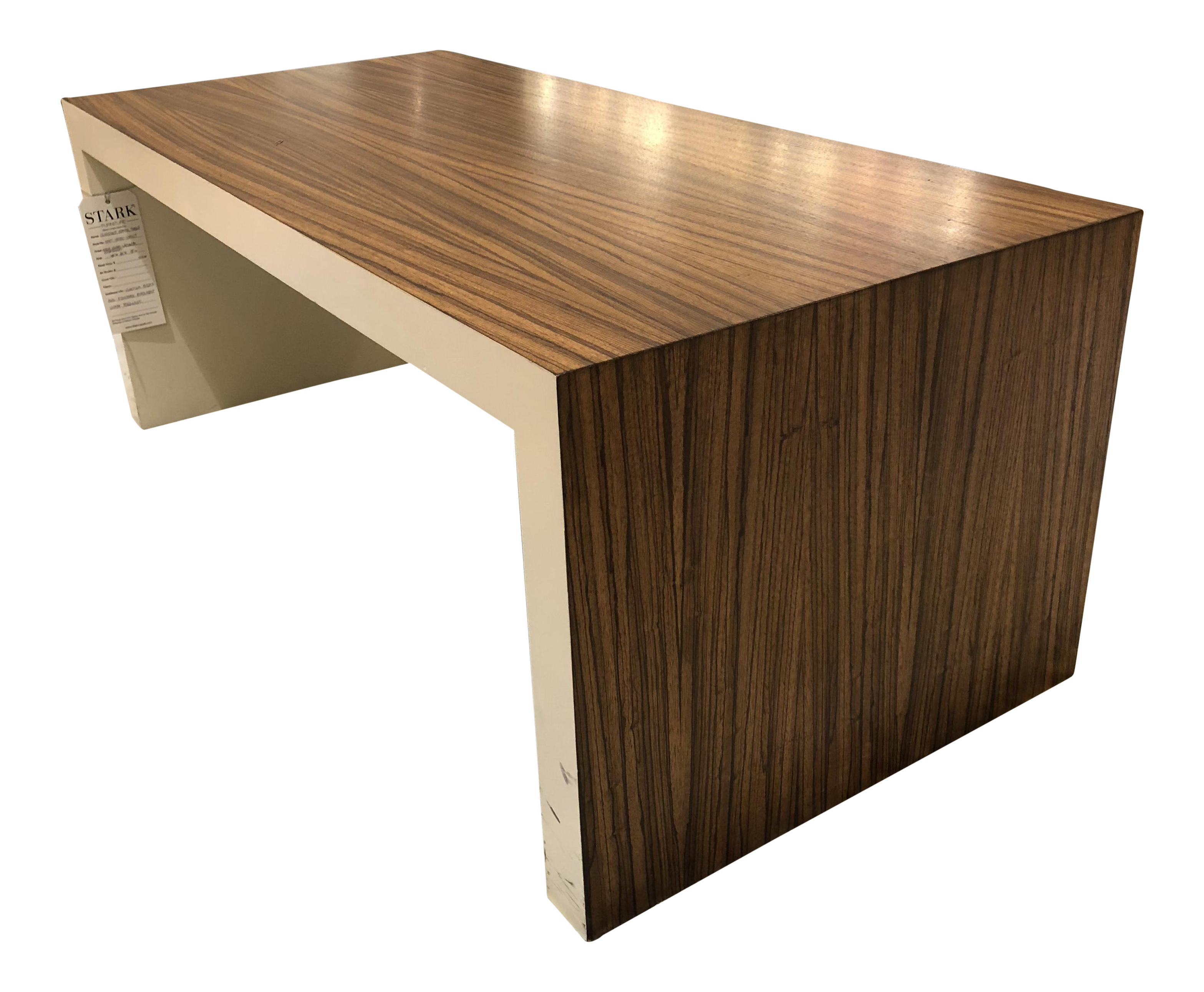 Zebrawood contemporary cocktail table in cocktail tables