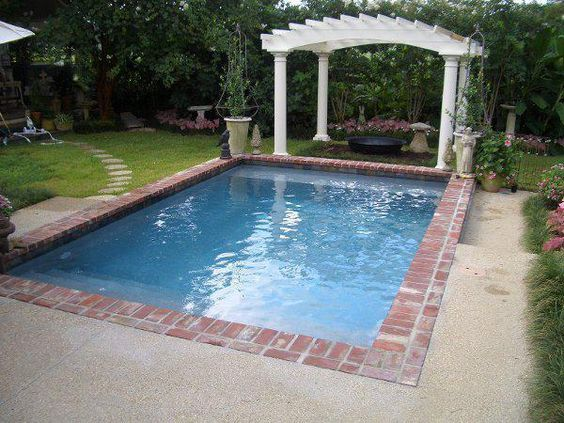 our thin brick pavers make excellent borders around outdoor pools