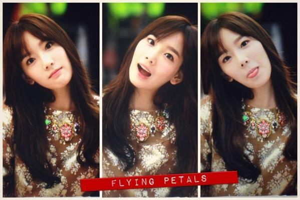 Taeyeon : 131101 탱구 (by flying petals)