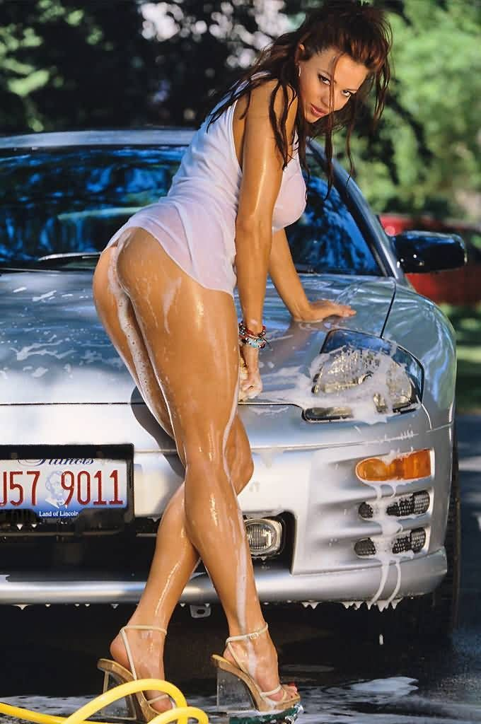 Sexy car cleaning