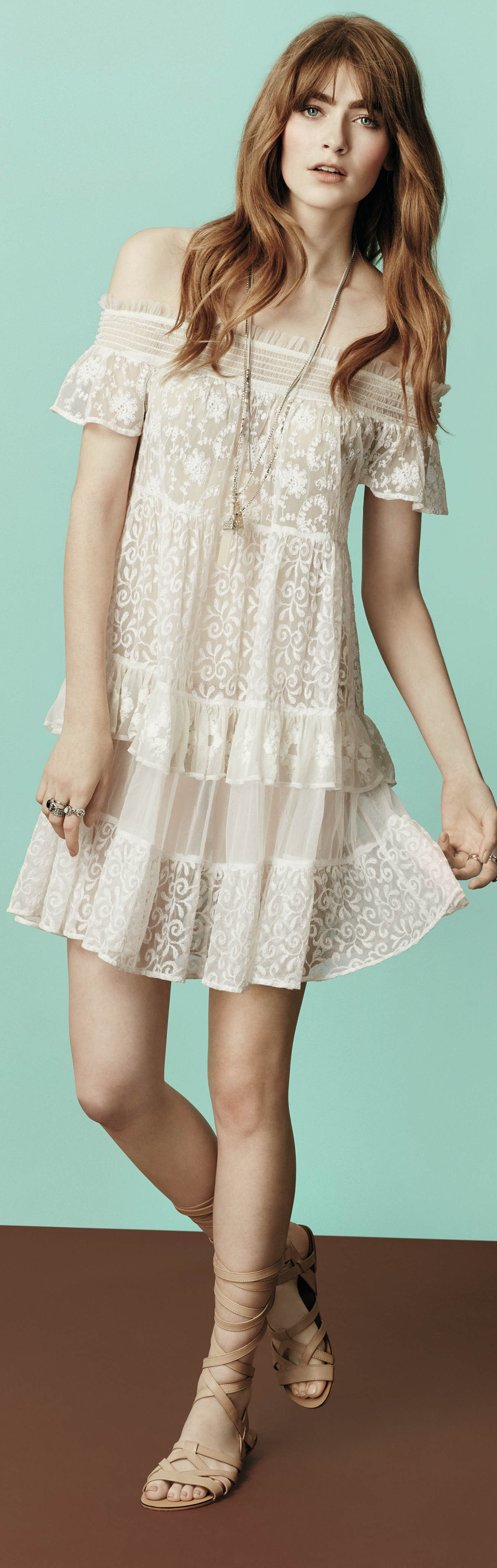 Perfect boho dress to use as a casual wedding gown. Read
