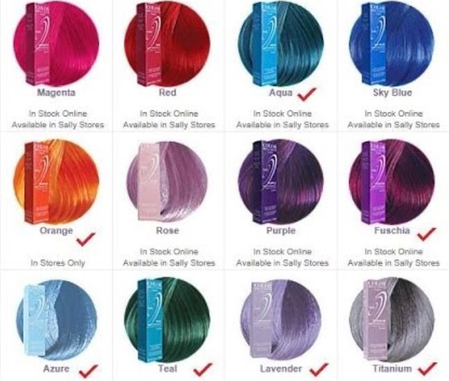 Ion Hair Colors Magenta Rose Lavender And Or Radiant Orchid Those Are The Colours I Want For Ion Hair Colors Ion Hair Color Chart Permanent Hair Color