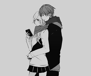 Cute anime couple anime blackwhite manga monochrome art cute anime couple altavistaventures Images