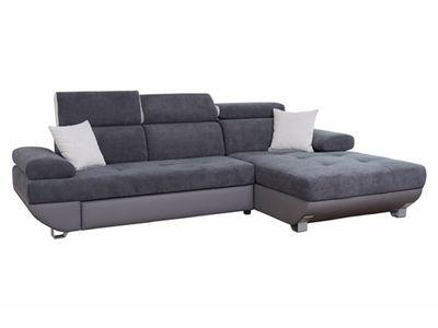Canapé d\u0027angle à droite ALESSI gris Design Contemporain