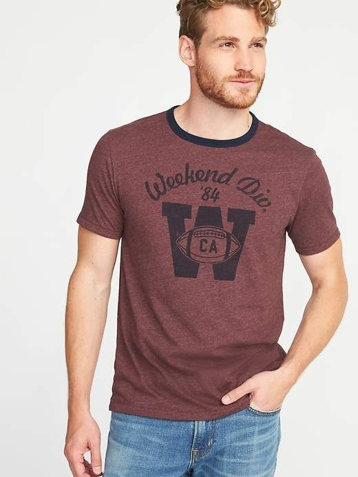 Old Navy Graphic Crew-Neck Ringer Tee for Men | Products in