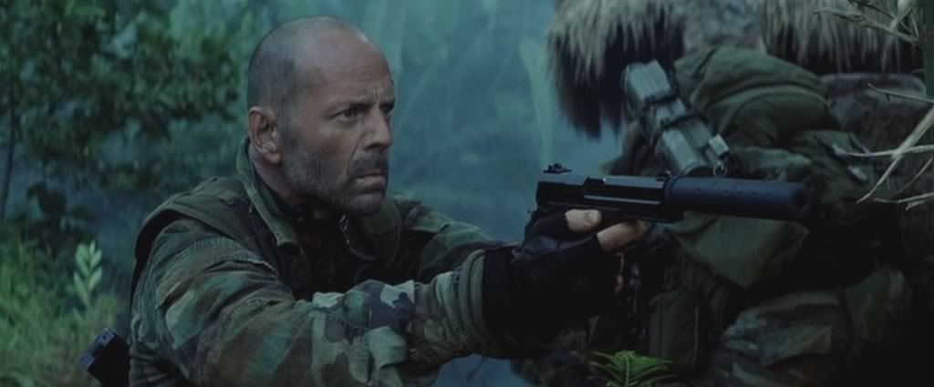 Bruce willis with a mk23 and can in tears of the sun