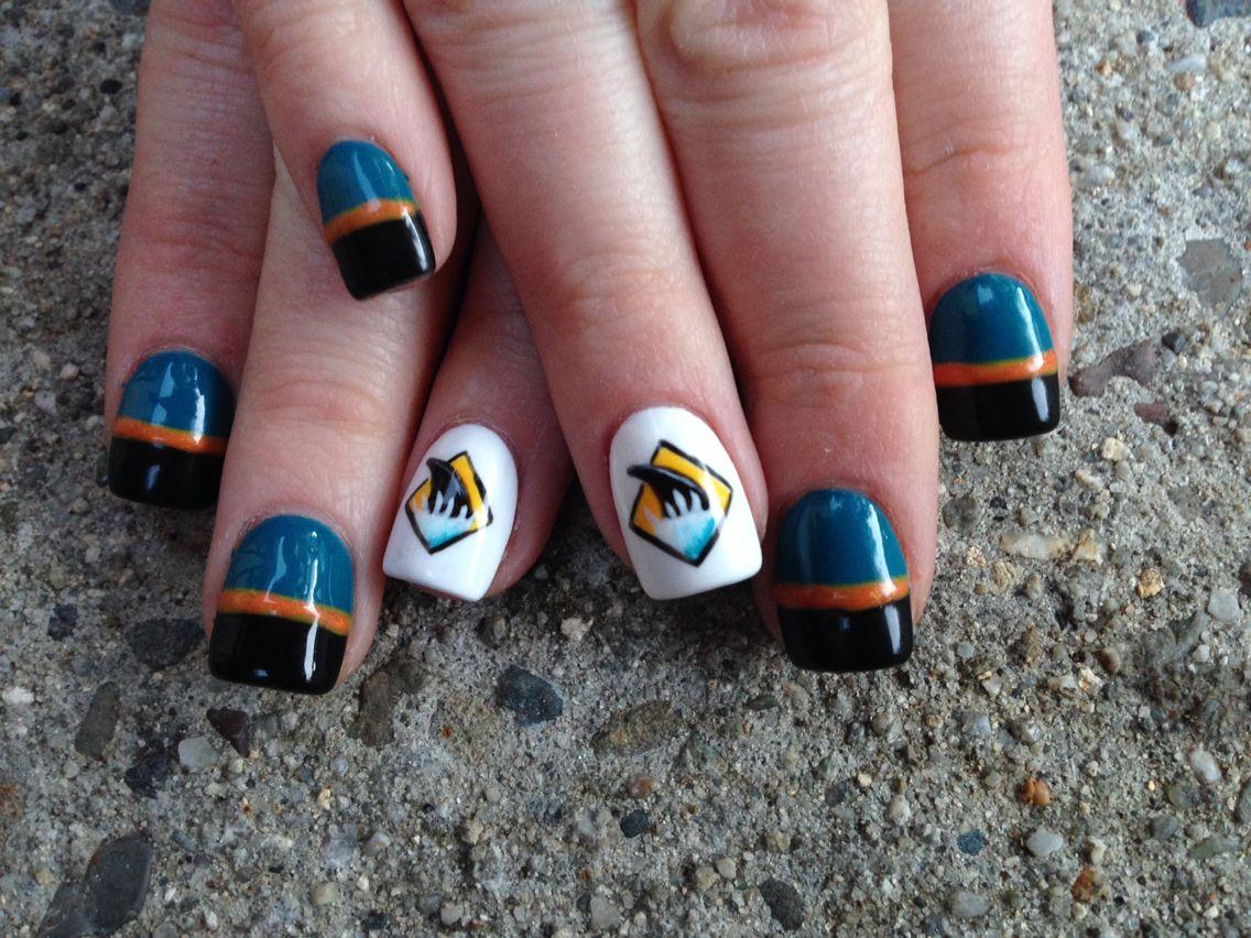 San Jose Sharks Nails Nails San Jose Sharks Nails Fun Nails