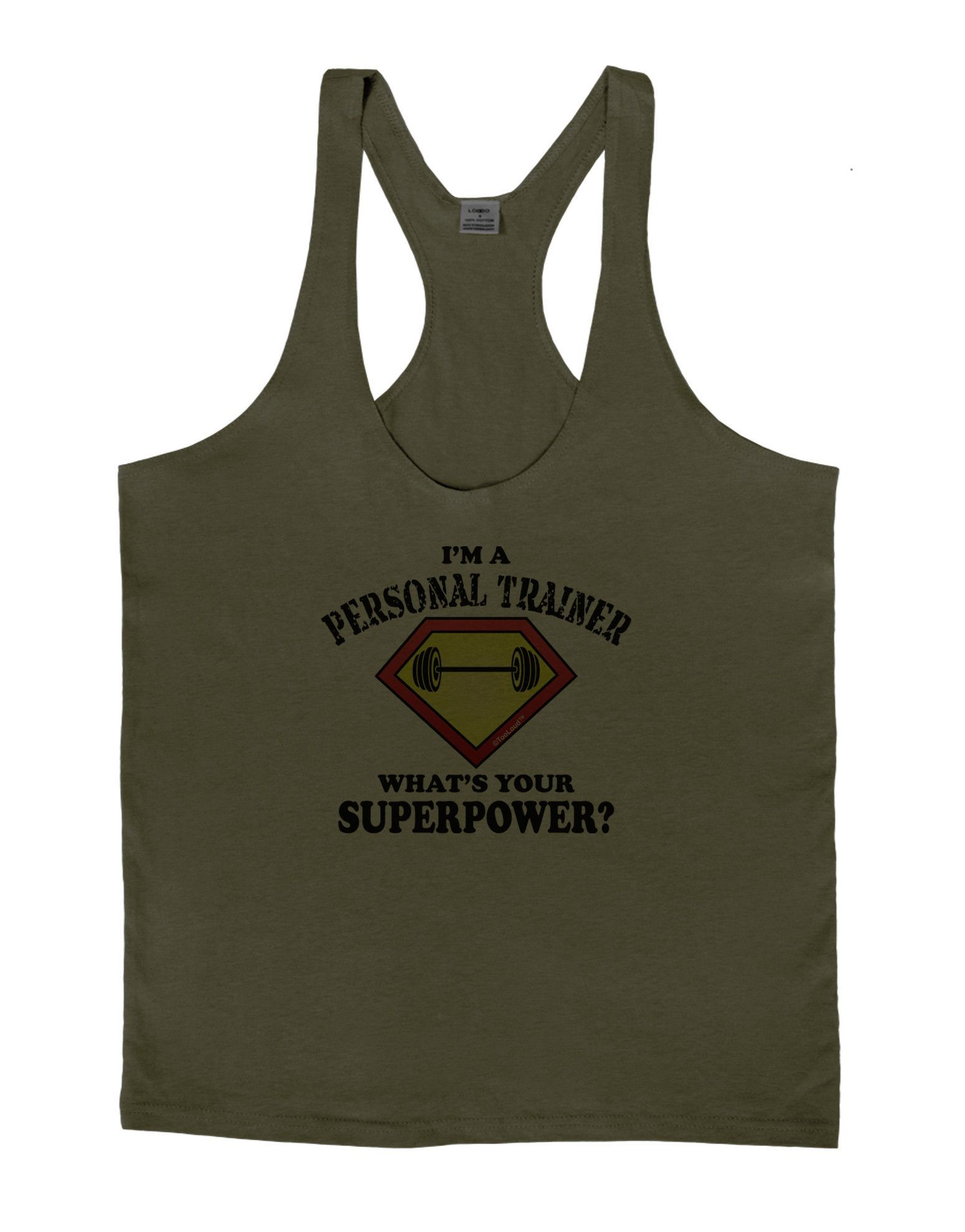 Personal Trainer - Superpower Mens String Tank Top