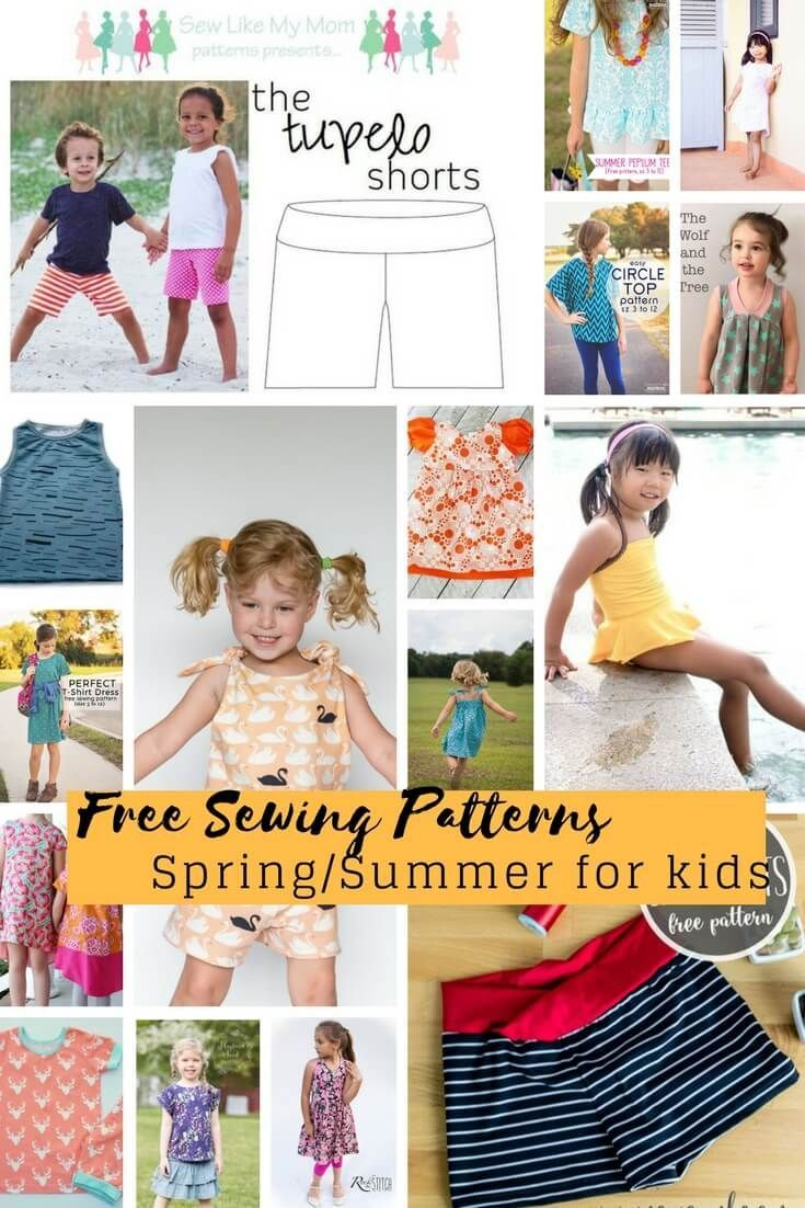 Free Sewing Patterns for kids spring/summer 2018! | Do It Yourself ...