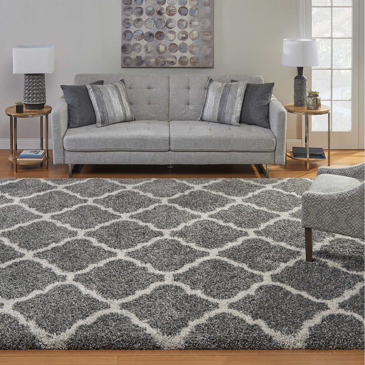 Thomasville Marketplace Rocca 55 Luxury Shag Rug Family Room