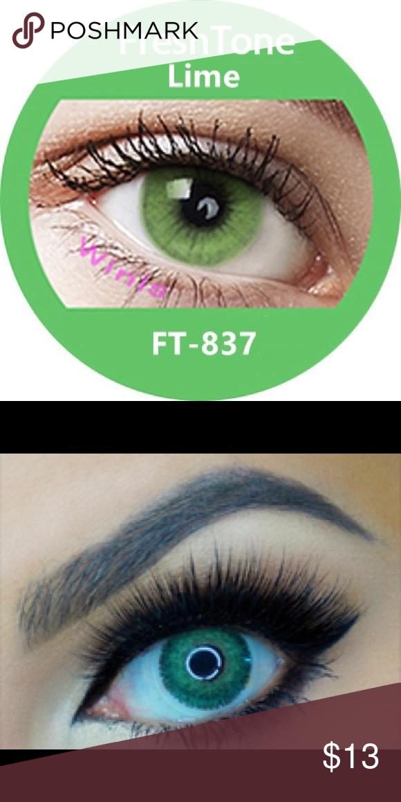 Contact Lenses Lime Freshtone Free Case Ship Daily 1 Pair 13 Brand Freshtone No Prescription Green Contacts Lenses Cosplay Contacts Green Contacts