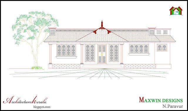 Architecture Kerala: 3 BHK SINGLE FLOOR KERALA HOUSE PLAN AND ELEVATION
