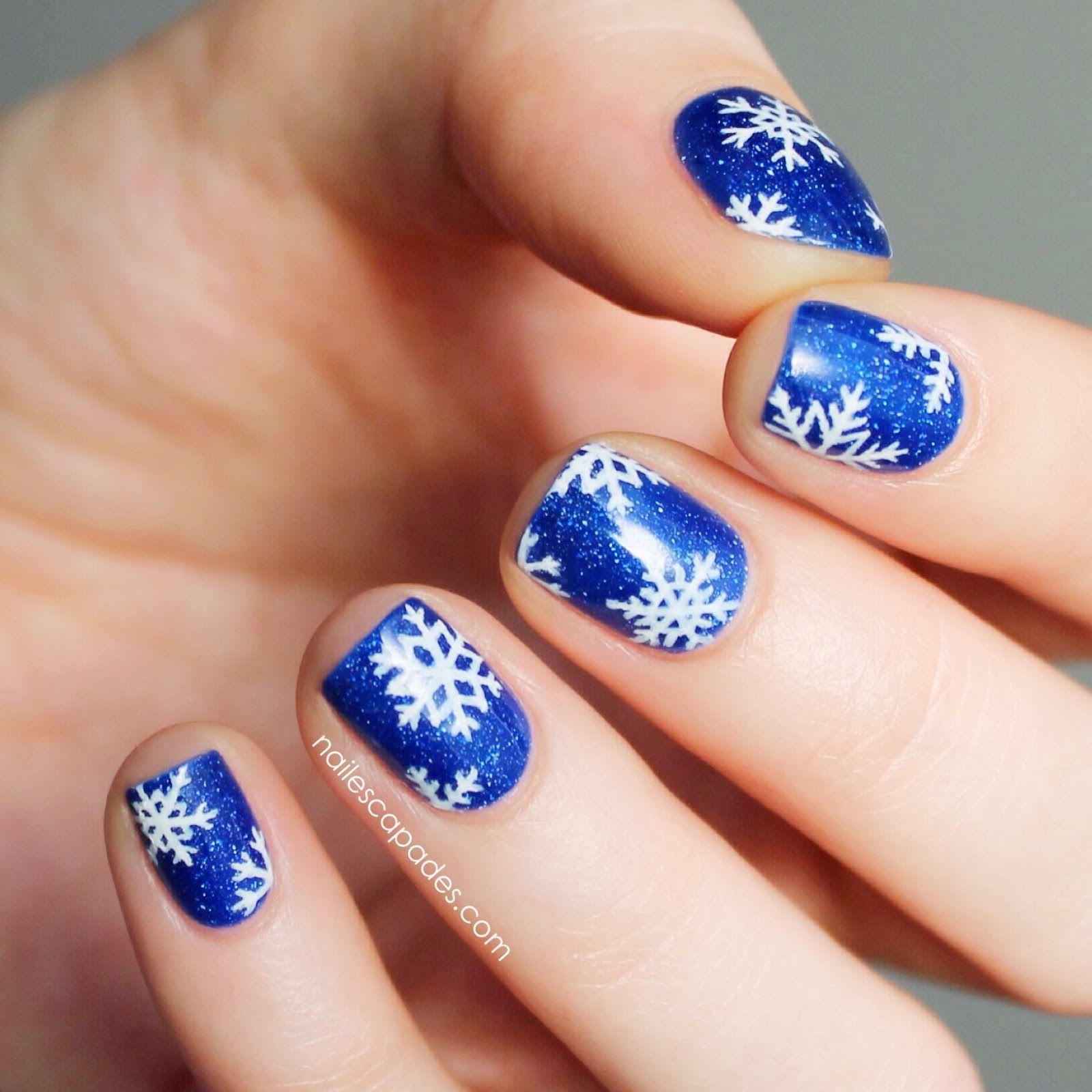 Nail Escapades Picture Polish Freyas Cats Snowflake Nail Art