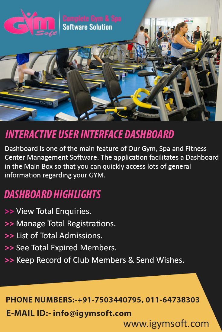 Experience the interactive dashboard of igym software get