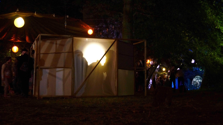 The Infinity Box, after dark at Shambala Festival 2014